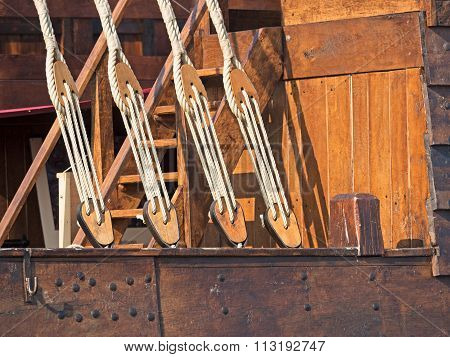 Rigging Of An Old Sailing Ship