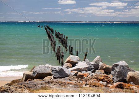 The Old Pier at Bridport,Tasmania
