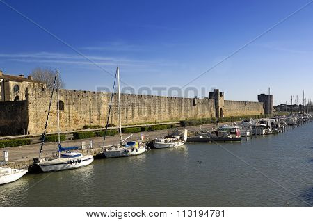 Walls of Aigues Mortes, Camargue, France