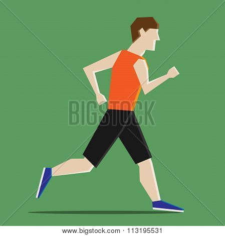 Abstract Man Running