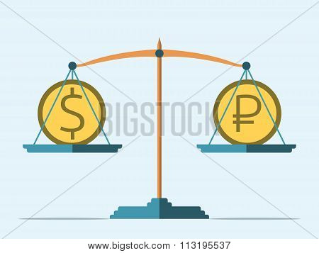 Balance, Dollar And Ruble