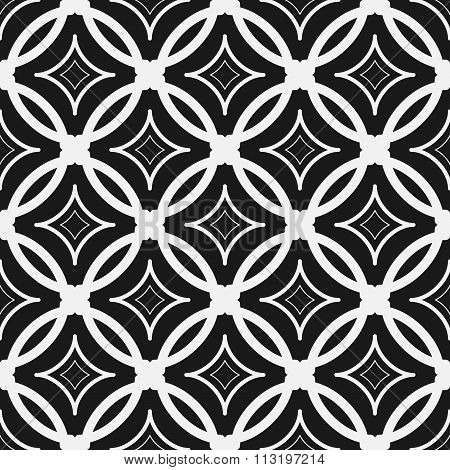 Abstract Seamless Pattern. Repeating Geometric Tiles With Rhombus With Concave Sides.