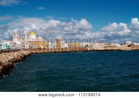 Cityscape Of Cádiz, Paseo Campo Del Sur, Spain