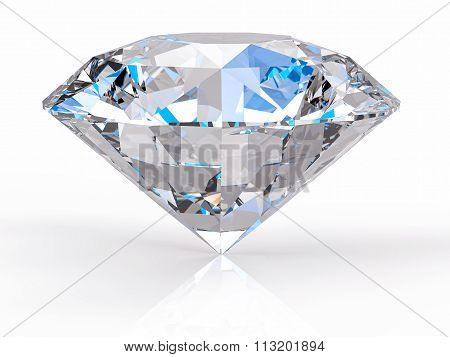 3D Isolated Diamond Background