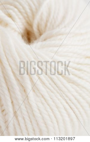 Close Up Of White Woolen Clew