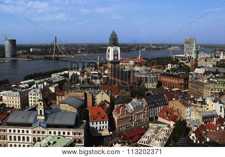 View of Old Riga and Daugava River