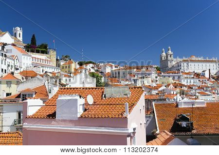 Vibrant rooftops of Alfama