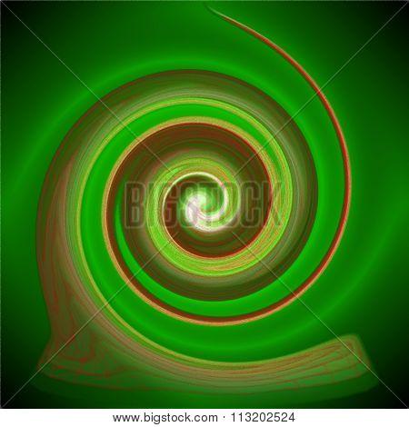 Psychedelic blur glass spira
