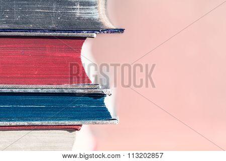 Retro Book Pile