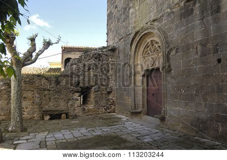 Church Of Sant Pere, Pubol, Village Of