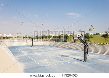 Basketball Court At Qatar Education City