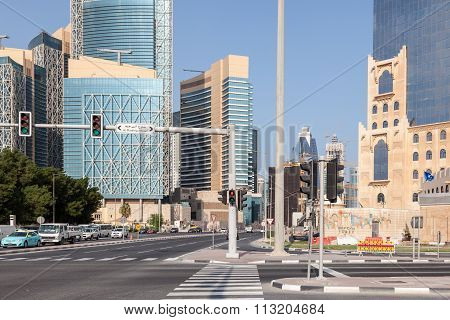 Crossing In Doha Downtown, Qatar