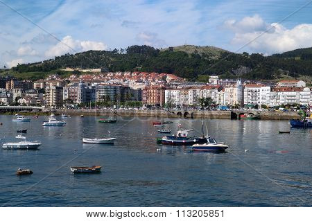View Of Castro Urdiales, Cantabria, Spain