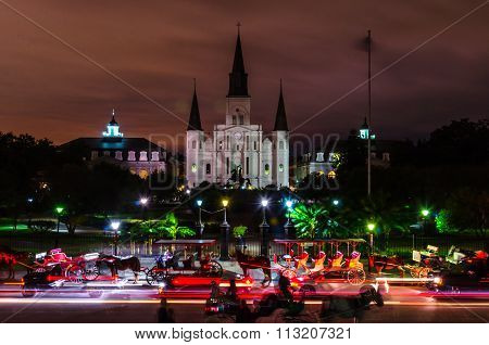 Saint Louis Cathedral At Night