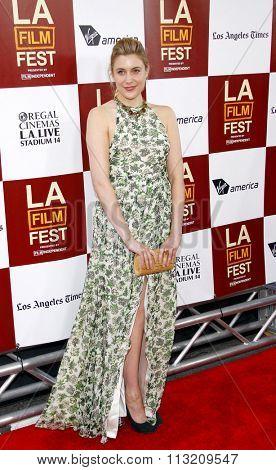 Greta Gerwig at the 2012 Los Angeles Film Festival premiere of