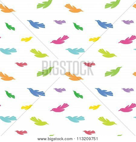 Bird Vector Art Background Design For Fabric And Decor. Seamless Pattern