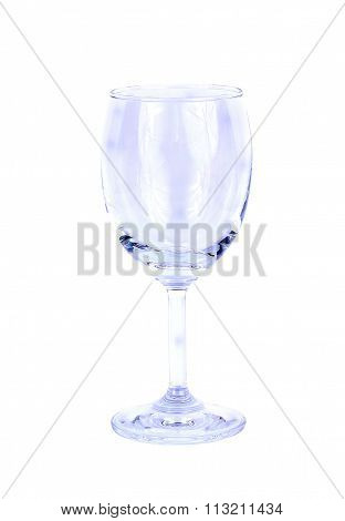 Empty Transparent Wineglass