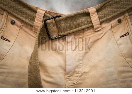 Brown Jeans With Gun Belt