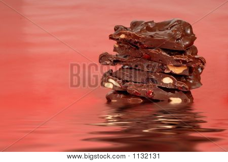 Chocolate Cashew And Dried Cherry Bark In Water