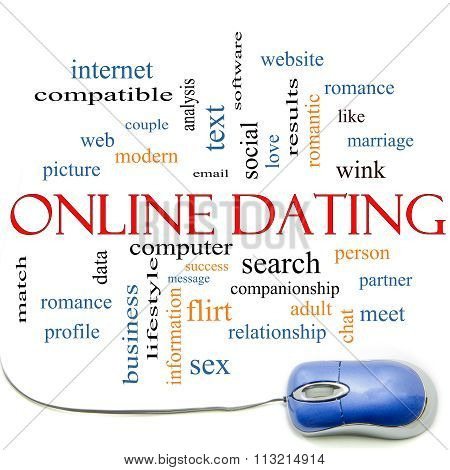 Online Dating  Cloud Concept With Mouse