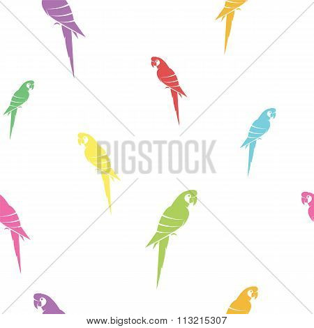 Parrot Vector Art Background Design For Fabric And Decor. Seamless Pattern