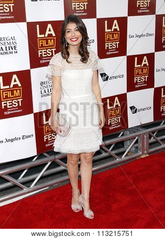 LOS ANGELES, CALIFORNIA - June 14, 2012. Alessandra Mastronardi at the 2012 Los Angeles Film Festival premiere of