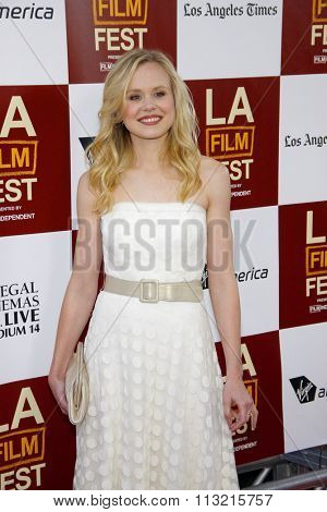 LOS ANGELES, CALIFORNIA - June 14, 2012. Alison Pill at the 2012 Los Angeles Film Festival premiere of