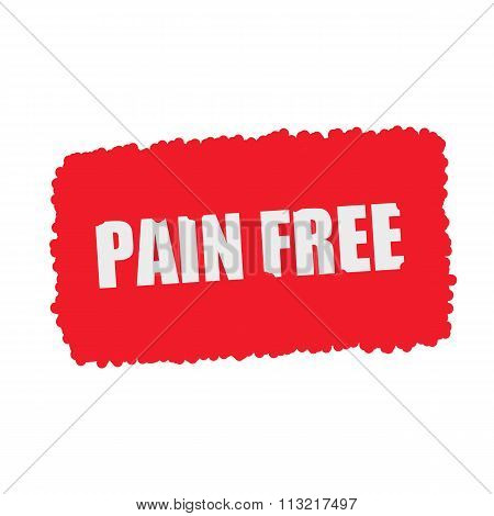 Pain Free White Stamp Text On Blood Drops Red Background
