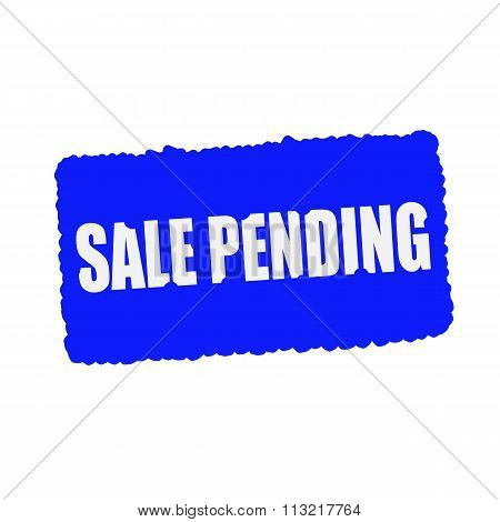 Sale Pending White Stamp Text On Blood Drops Blue Background