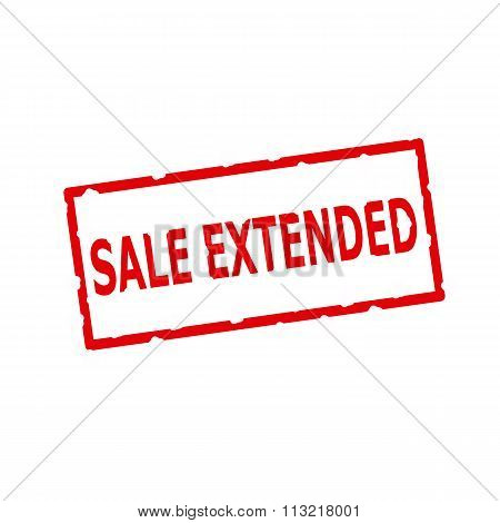 Sale Extended Red Stamp Text On Rectangular White Background