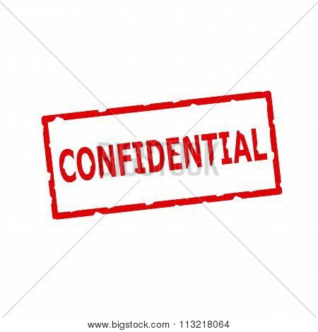 Confidential Red Stamp Text On Rectangular White Background