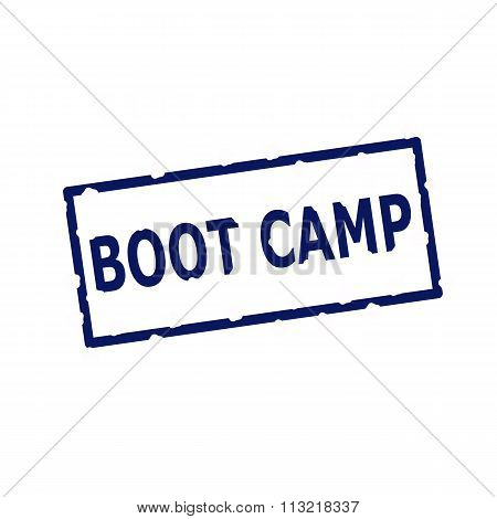 Boot Camp Blue Stamp Text On Rectangular White Background