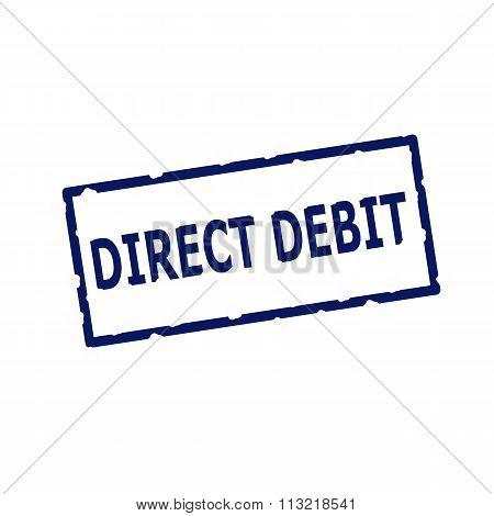 Direct Debit Blue Stamp Text On Rectangular White Background