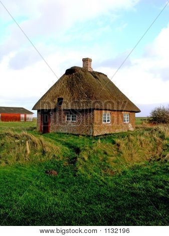 Sod Roof Cottage Denmark