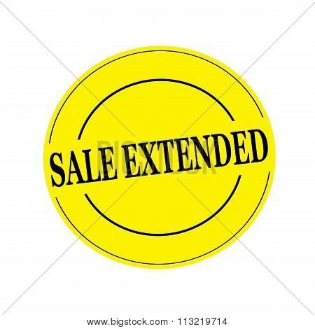 Sale Extended Black Stamp Text On Circle On Yellow Background