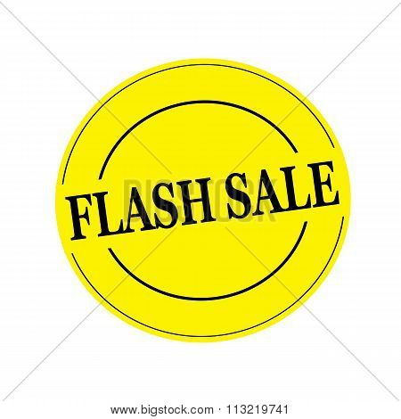 Flash Sale Black Stamp Text On Circle On Yellow Background