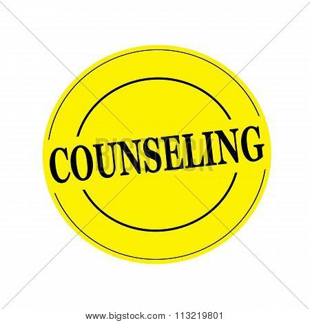 Counseling Stamp Text On Circle On Yellow Background