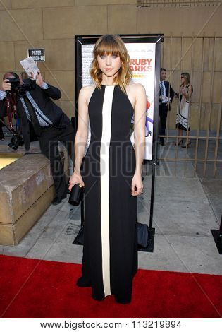 Zoe Kazan at the Los Angeles premiere of