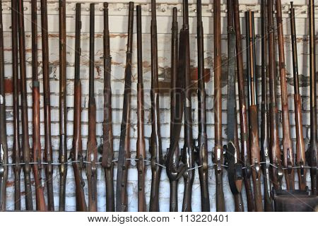 Rifles during the gold rush