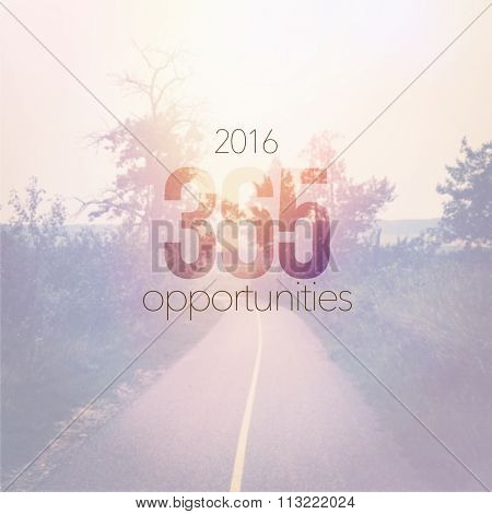 Inspirational Typographic Quote - 2016 365 opportunities