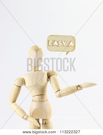 Wooden Puppet Easy A Word