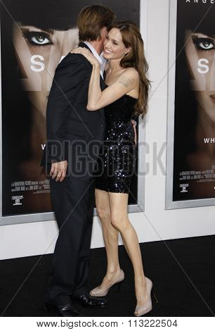 Brad Pitt and Angelina Jolie at the Los Angeles Premiere of