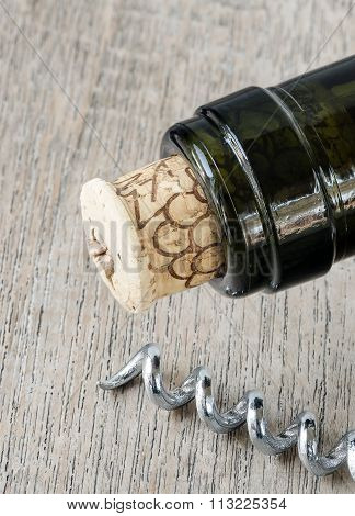 Wine Bottle And Opener
