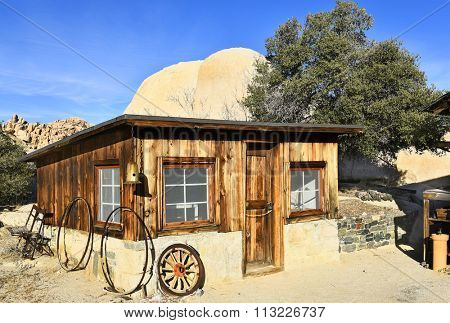 JOSHUA TREE, CALIFORNIA - JANUARY 1, 2016: Keys Ranch store building in Joshua Tree National Park. Built by homesteader Bill Keys.
