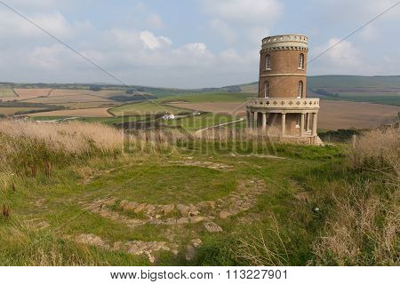 Clavell Tower overlooking Kimmeridge Bay east of Lulworth Cove on the Dorset coast England uk