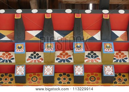 The Painting On Bhutan Architecture