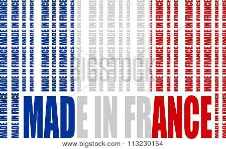Made In France Text And Bar Code From Same Words
