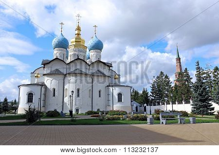 Cathedral Of The Annunciation And Soyembike Tower In The Kazan Kremlin