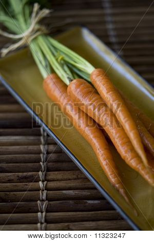 Freshly Washed Organically Grown Carrots