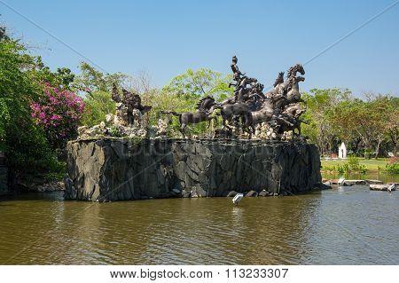 Horse Statue In Mueang Boran